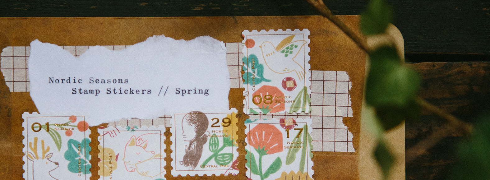 OURS 2018 春季新品 北歐四季 郵票貼紙