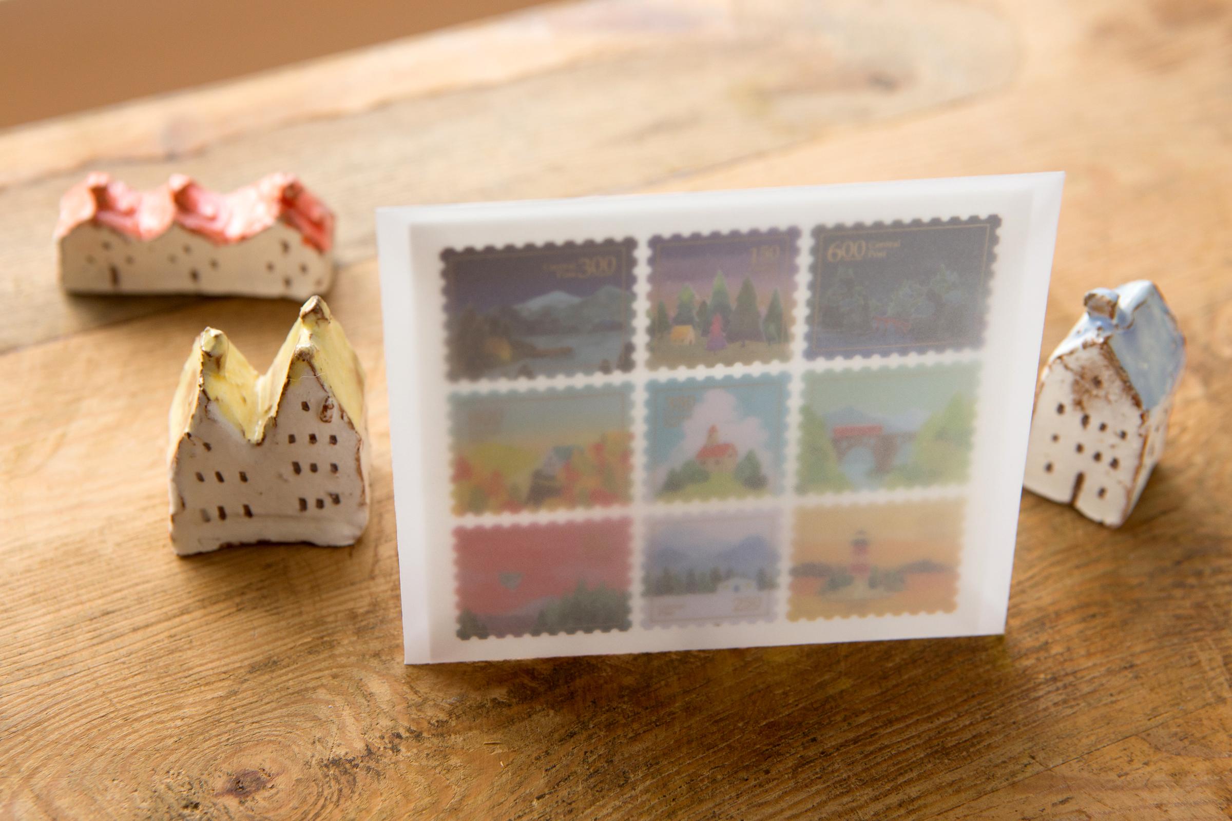 Central Post 郵票貼紙 - 有人的地方