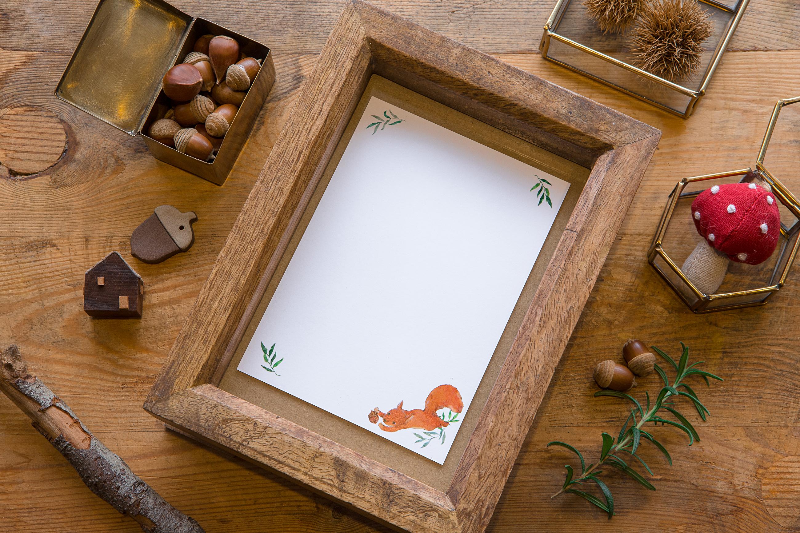 小動物明信片 - 跳躍的松鼠