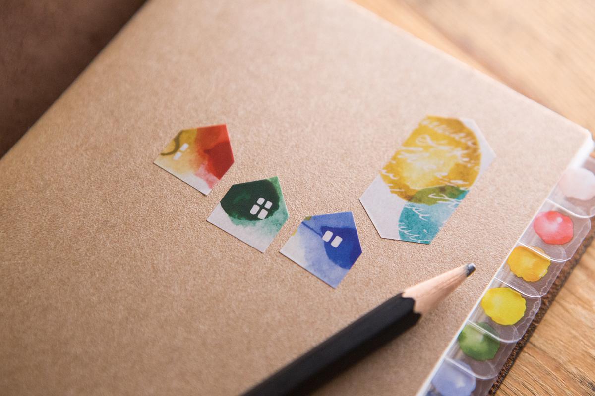 色彩練習 頁籤貼紙