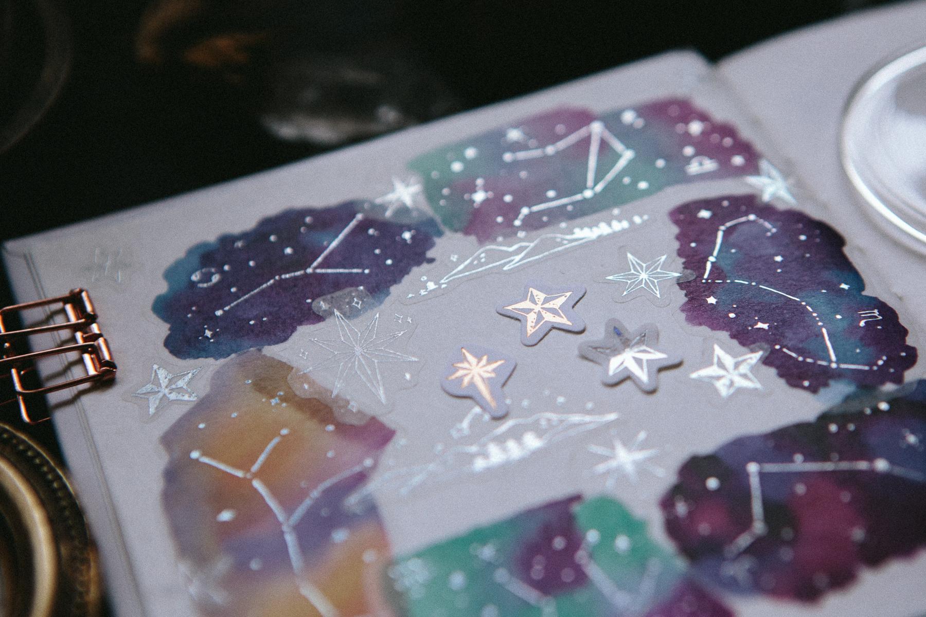 星空 貼紙包