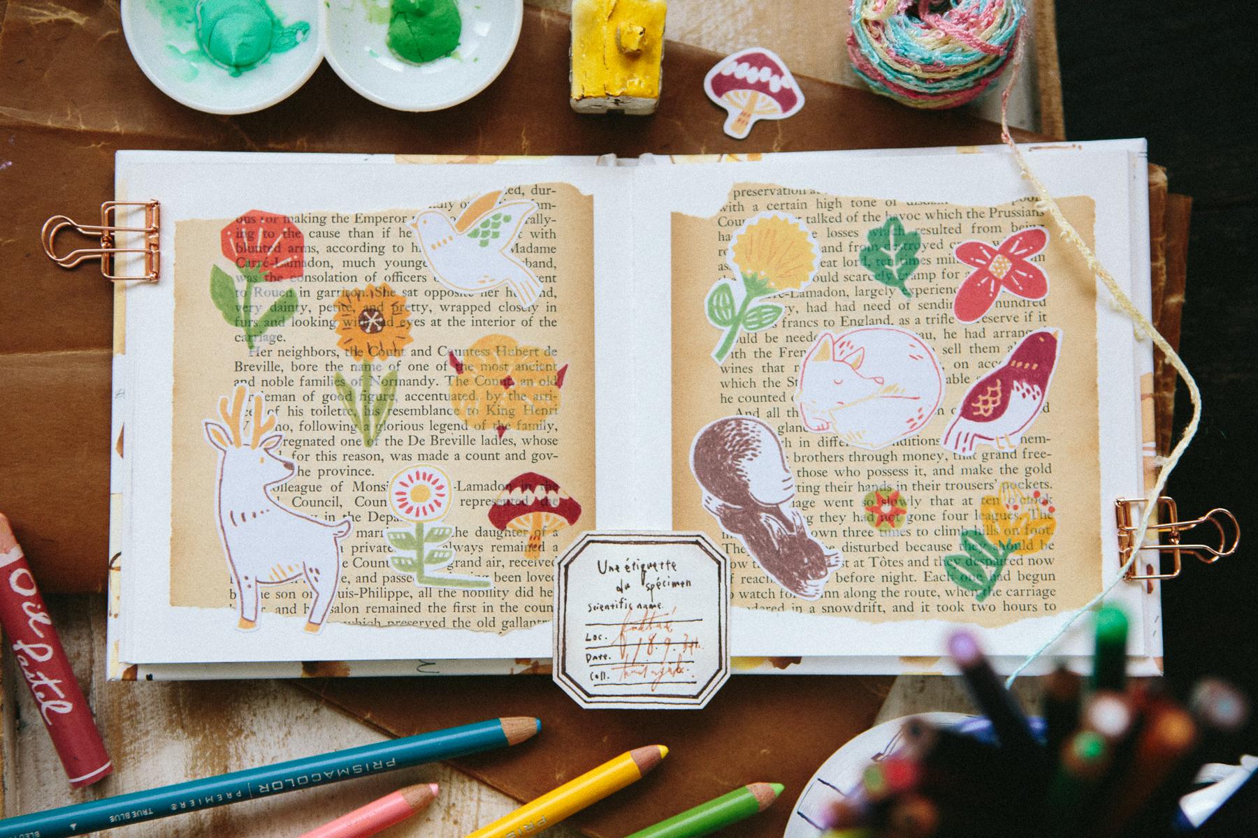 北歐四季春天 - 貼紙包