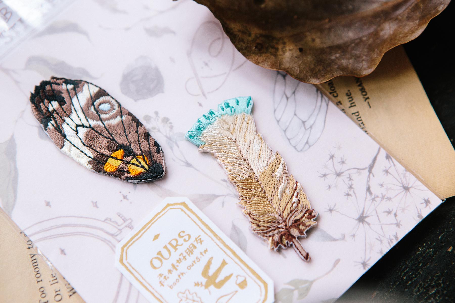 羽毛 繡片貼紙