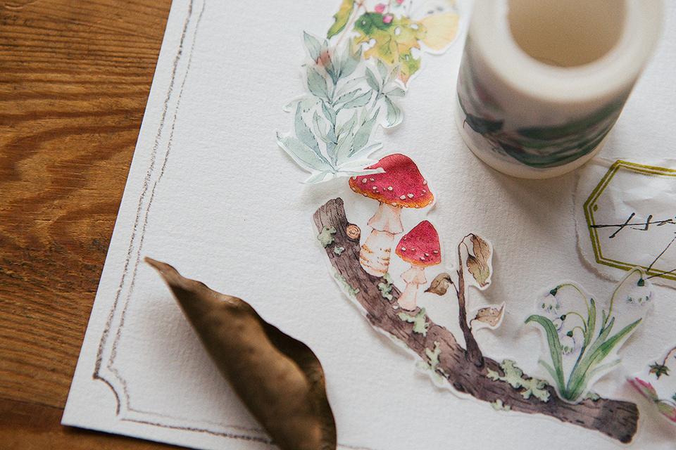 野地花禮2 紙膠帶 - 旅者博物室系列