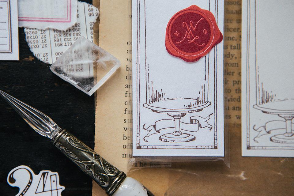 古典玻璃罩 活版便箋本