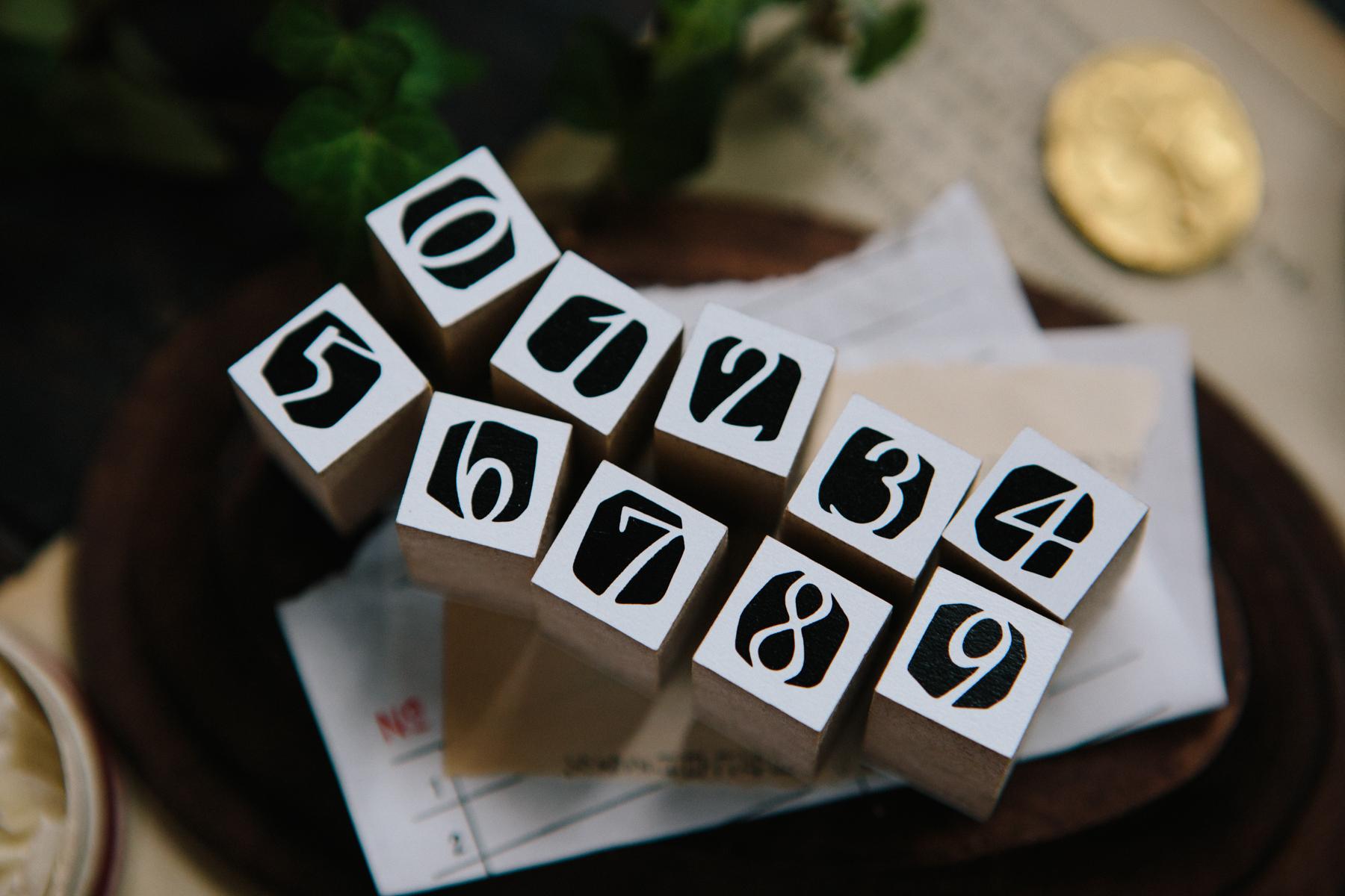 OURS 抽屜之中 陰刻數字 DIY自黏印章組