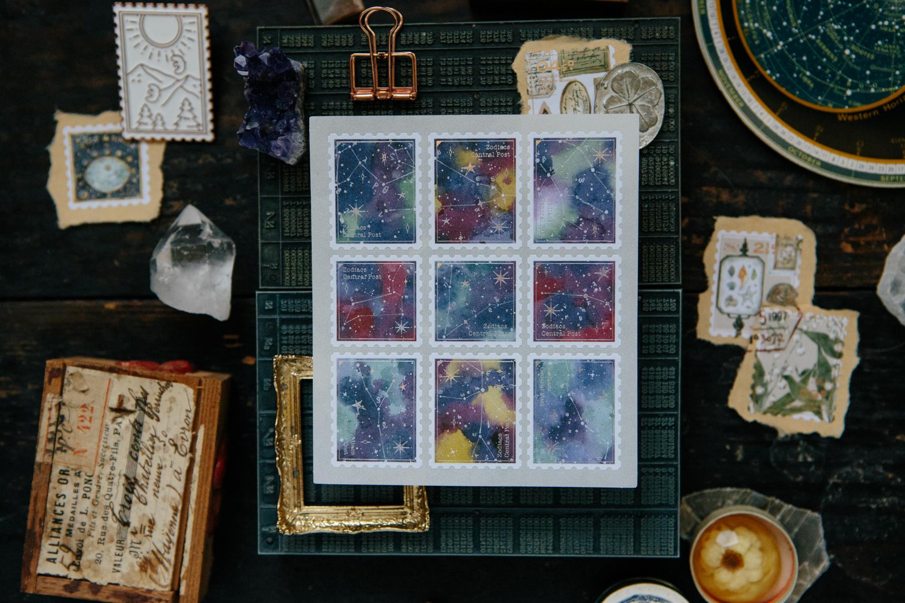 OURS 抽屜之中 黃道星空 星座 郵票貼紙