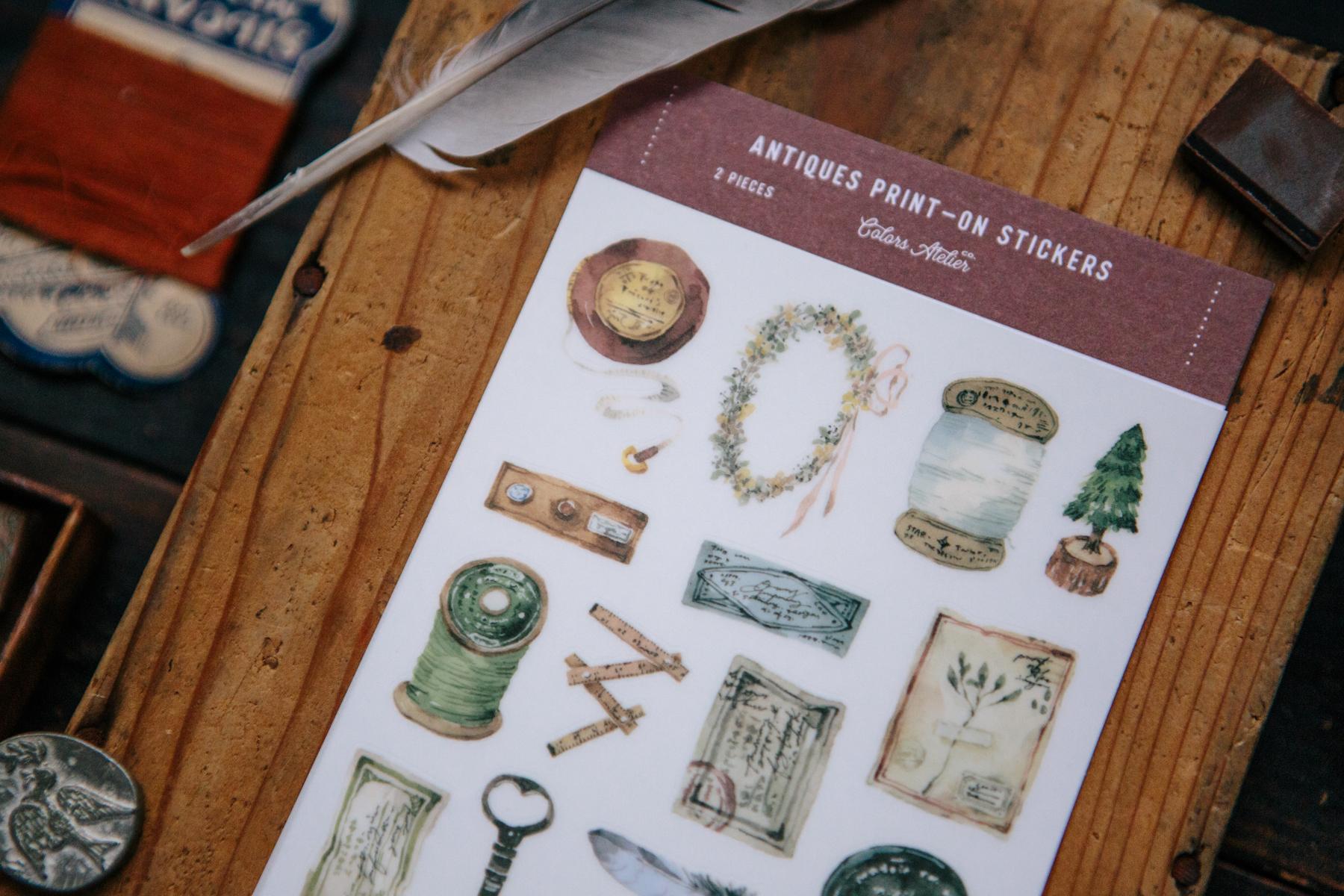 OURS 抽屜之中 古董道具 轉印貼紙