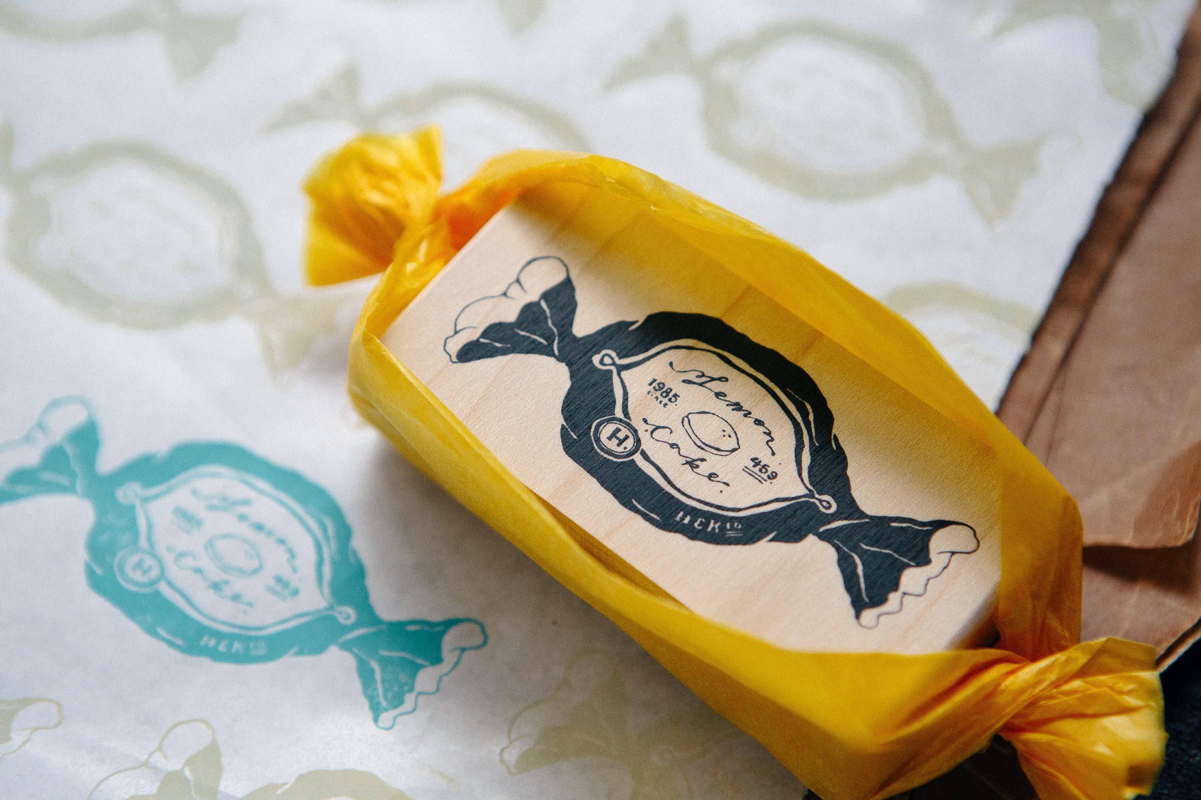 檸檬蛋糕 楓木印章