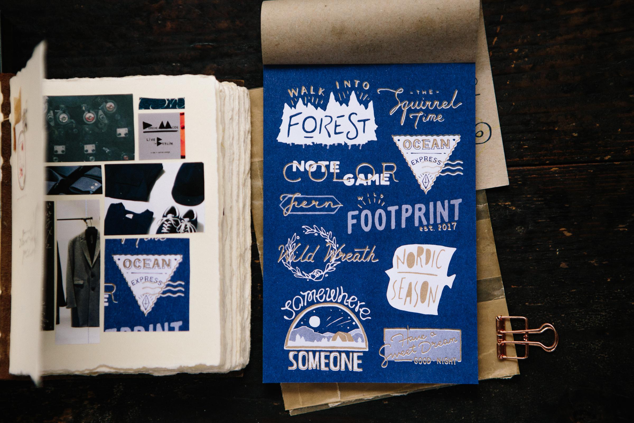 復古標誌 RISO素材紙本