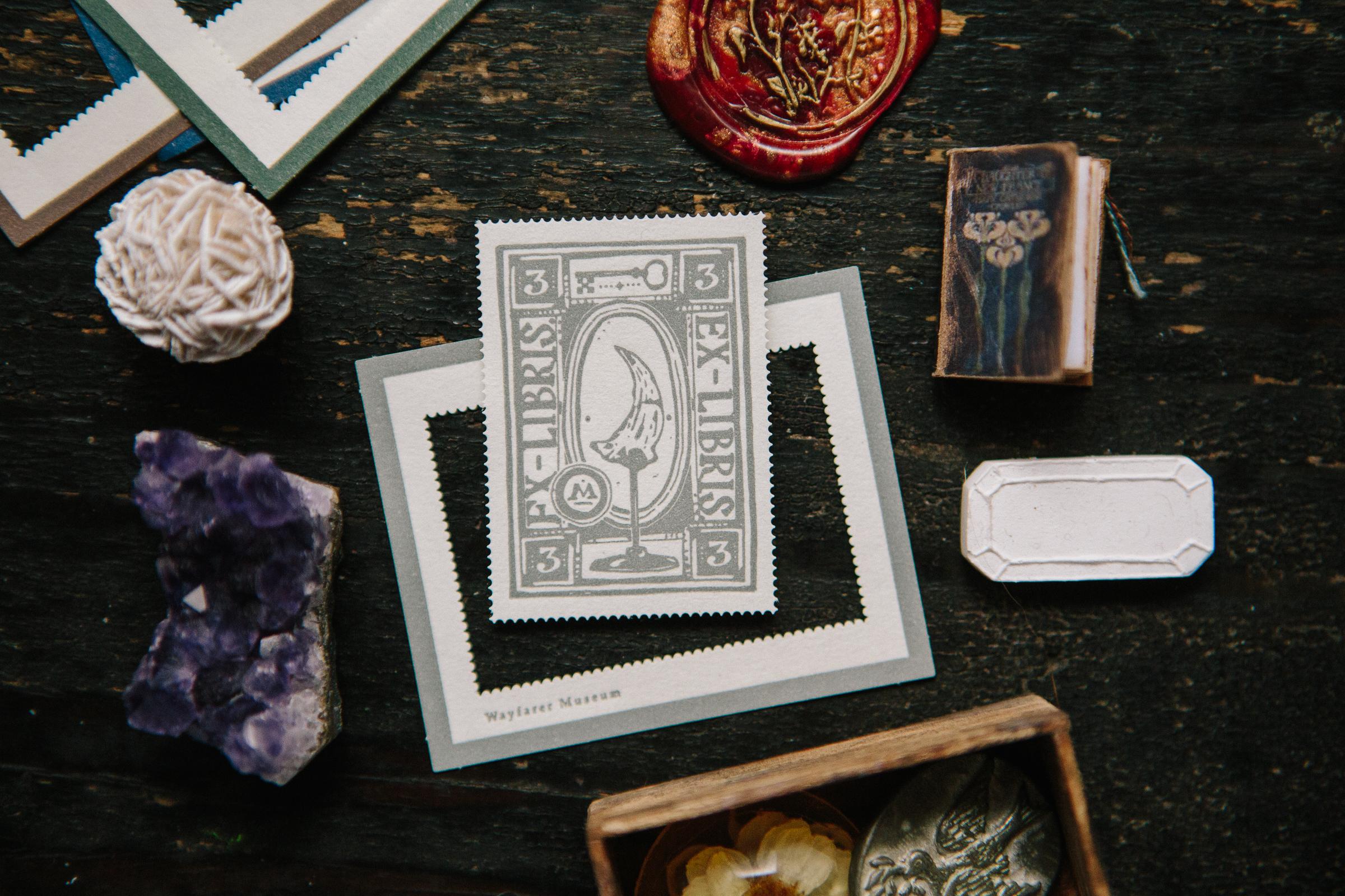 博物室裡 活版印刷郵票
