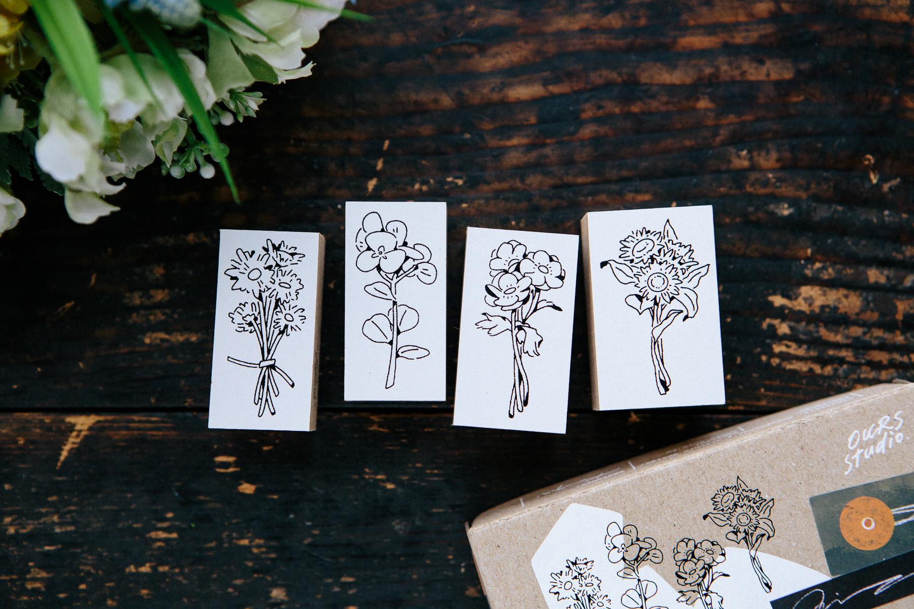 給你的花束 壓縮木印章組