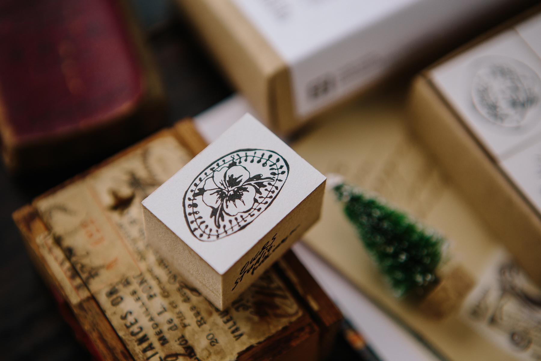 森林郵務B 壓縮木印章組