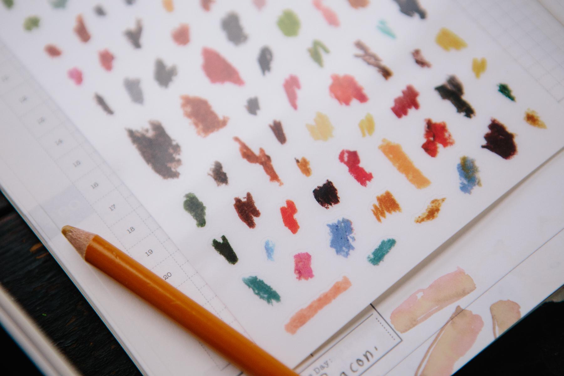 OURS 彩色筆點 轉印貼紙