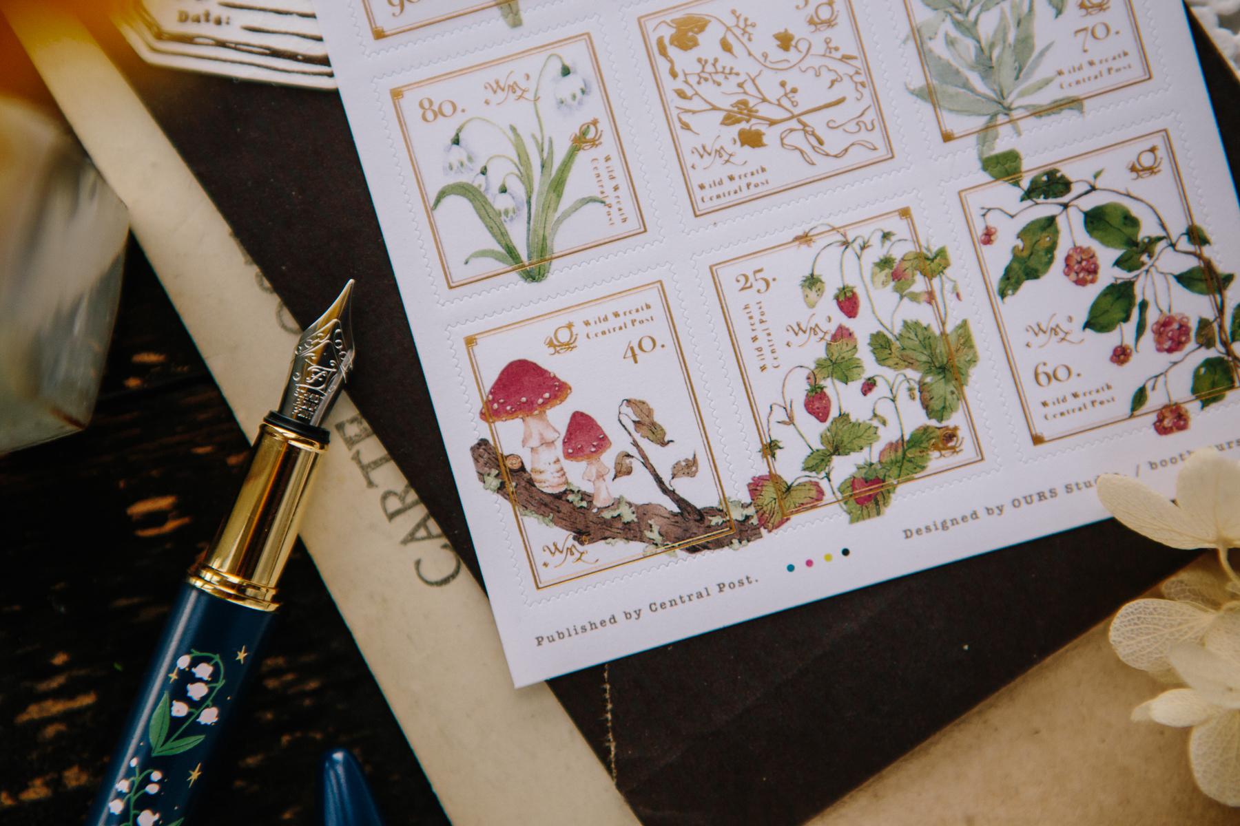 新野地花禮2 郵票貼紙