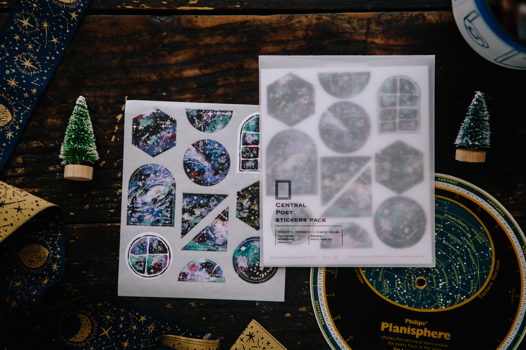 深邃星空 郵票貼紙