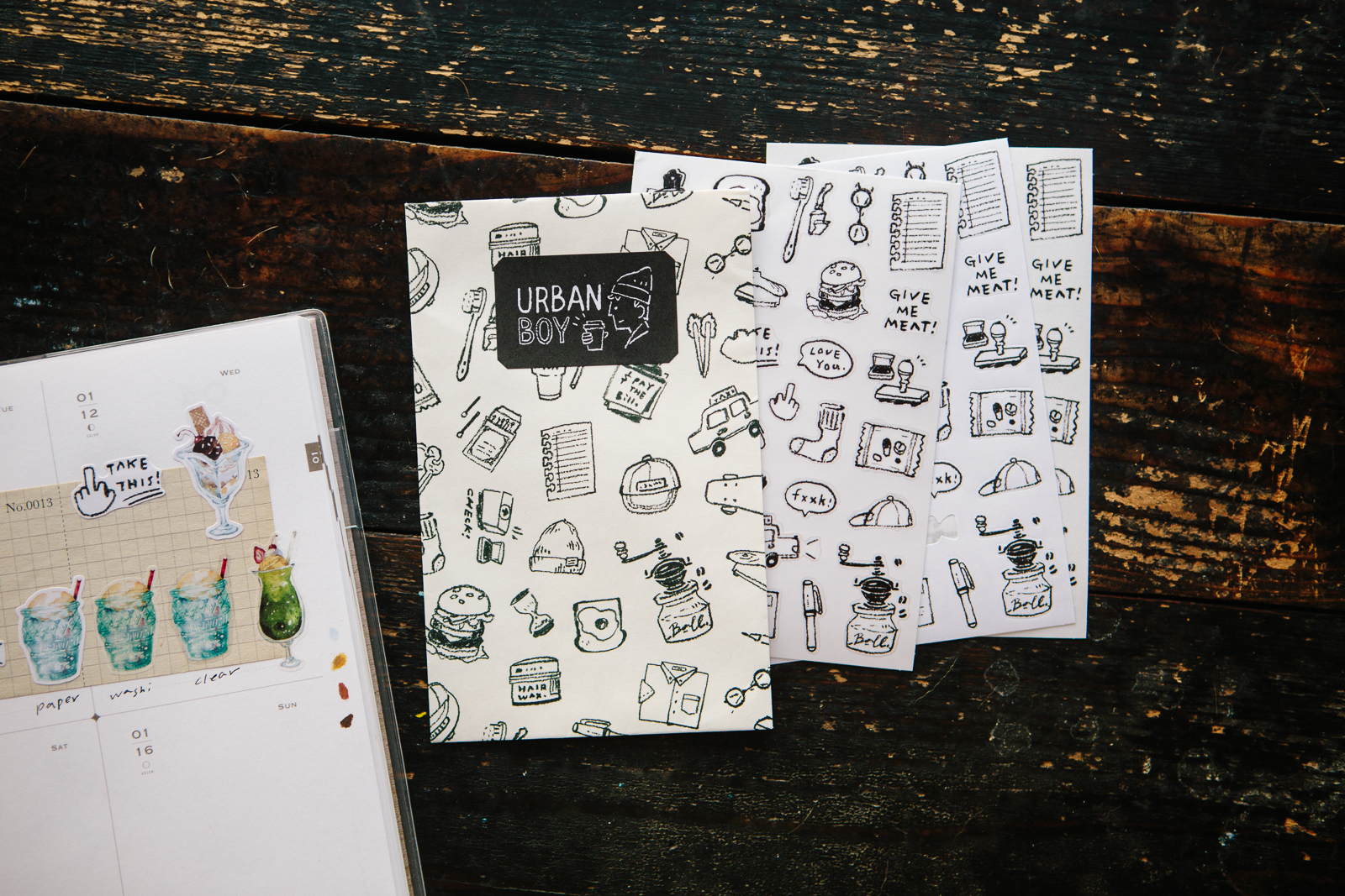 Urban Boy 貼紙包