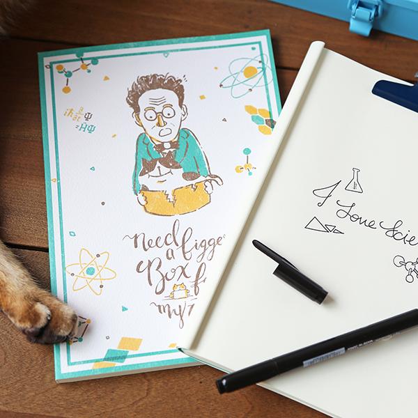 筆記本 - 薛丁格先生與他的貓