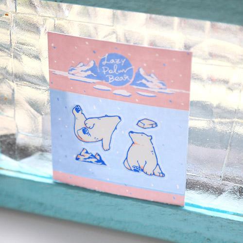 轉印裝飾貼紙 - Lazy Polar Bear #1