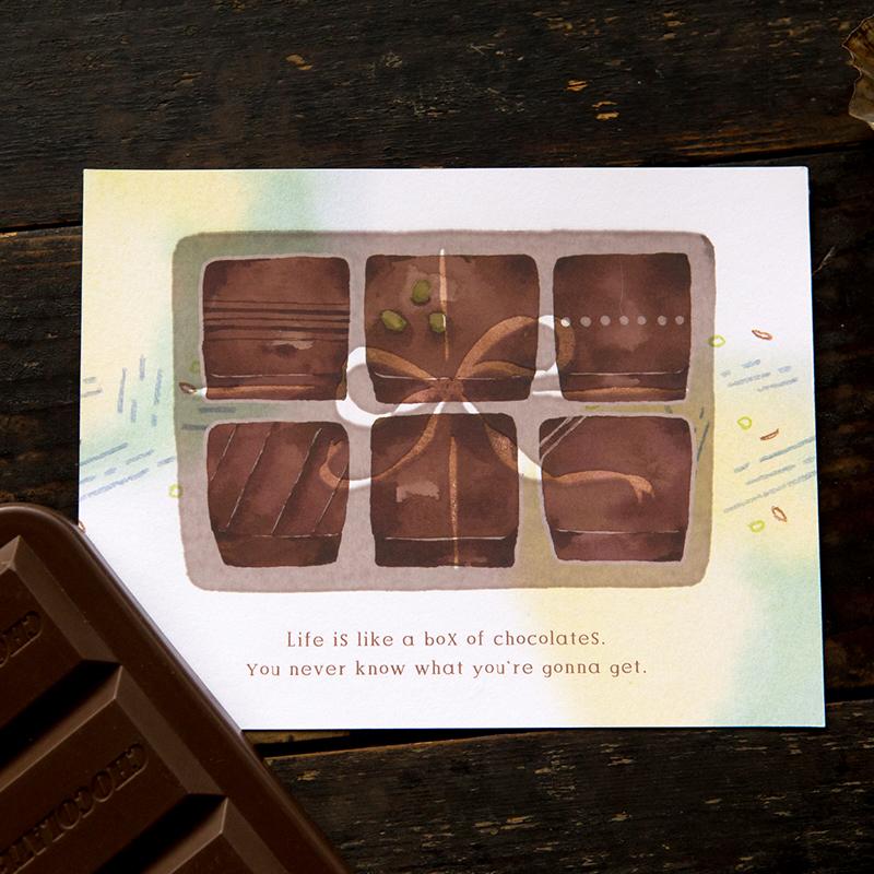 感溫明信片 - 巧克力