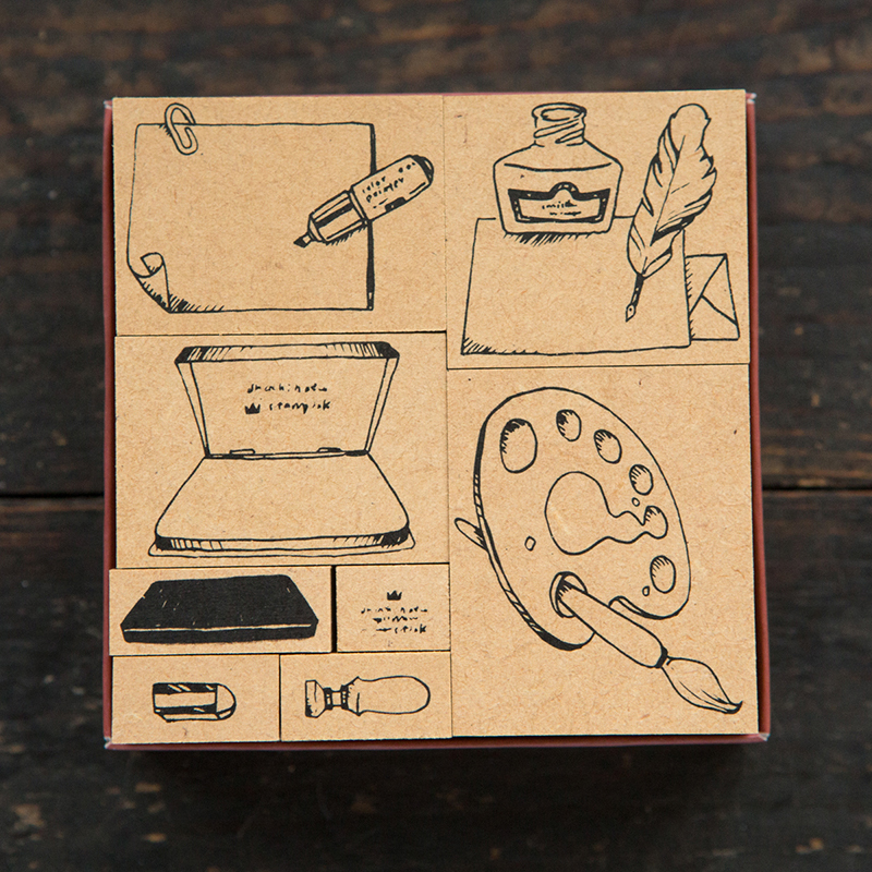 Stationary No.1  DIY Stamp Set