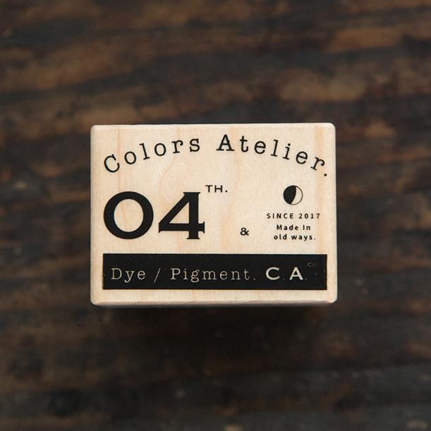 Vintage CA Logo B Maple Wood Stamp