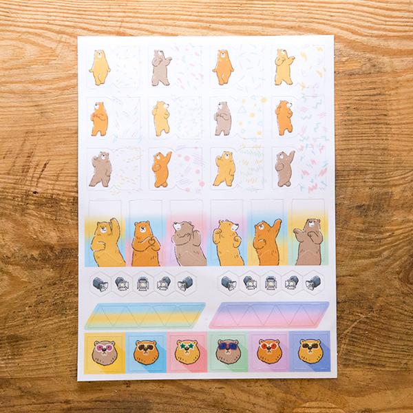 熱舞熱舞熊 頁籤索引貼紙