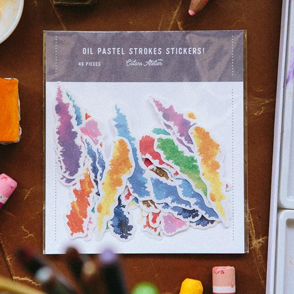 Crayon Strokes Sticker Pack