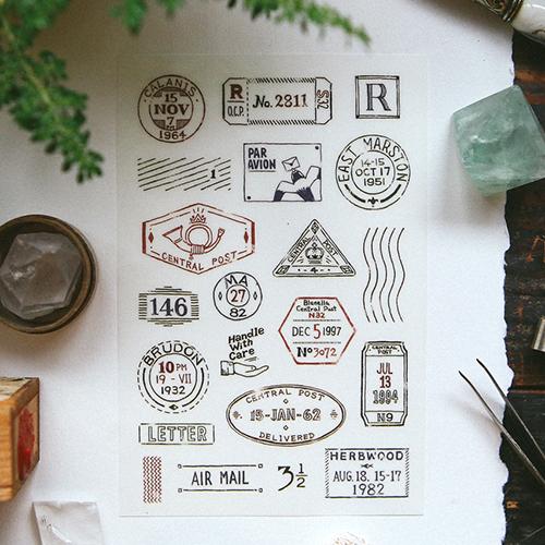 Postmark Transfer Sticker