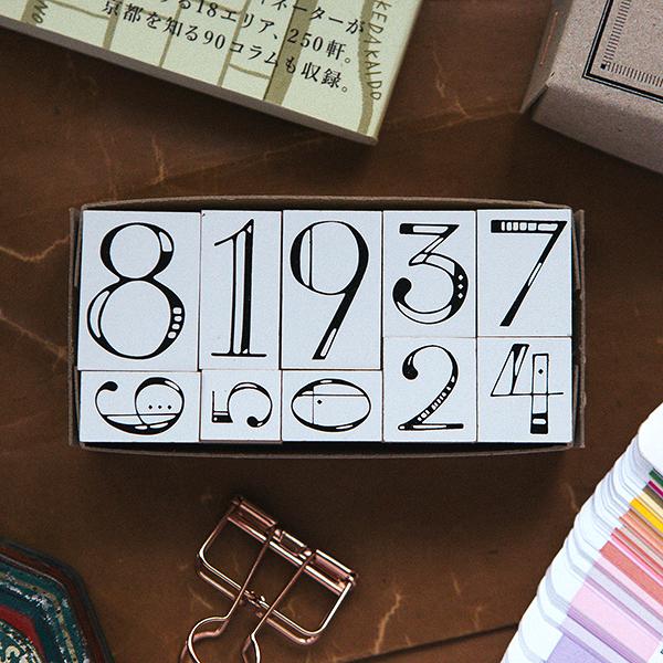 Numbers DIY Rubber Stamp Set