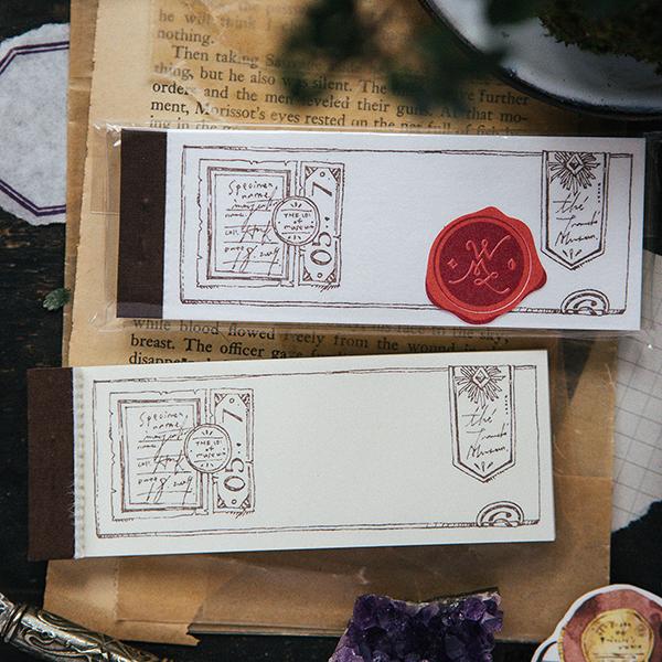 Slide Glass letterpress label book