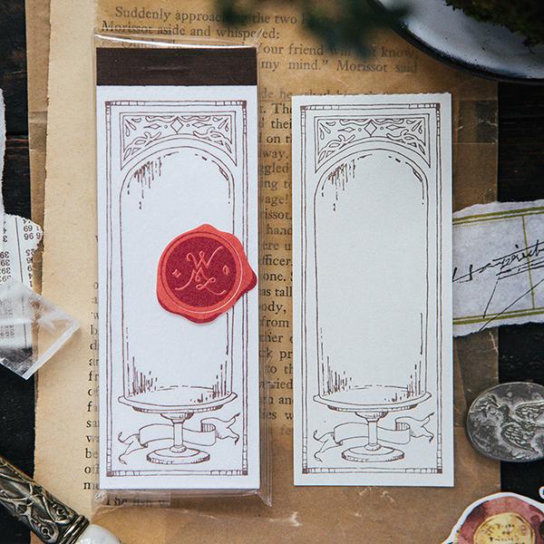 Glass Dome letterpress label book