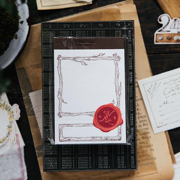 Branch frame letterpress label book
