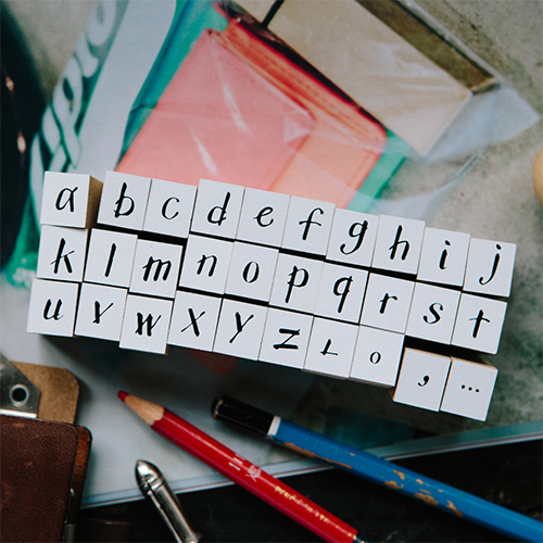 My A to Z 《Lowercase》DIY Rubber Stamp