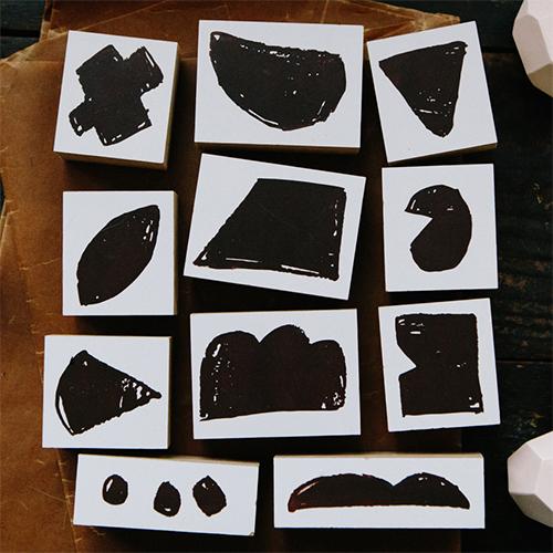 Rough Blocks DIY Rubber Stamp