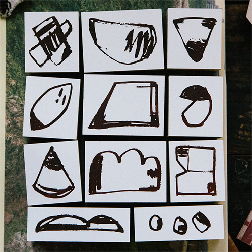 Rough Shapes DIY Rubber Stamp