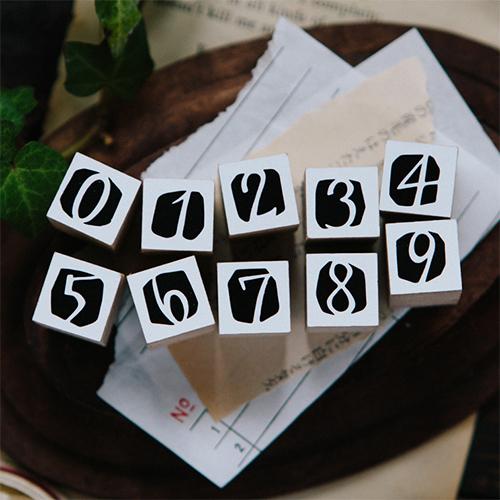 Number in Black DIY Rubber Stamp