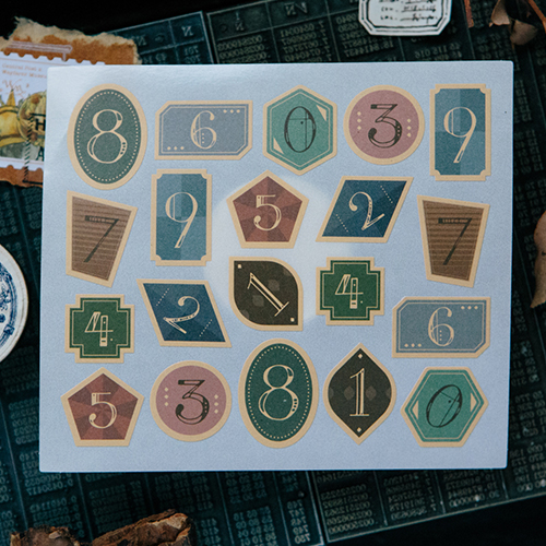 Geometry number sticker