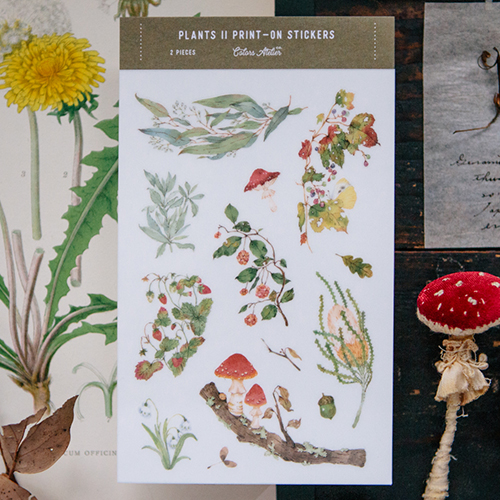 Wild Plants II print-on stickers