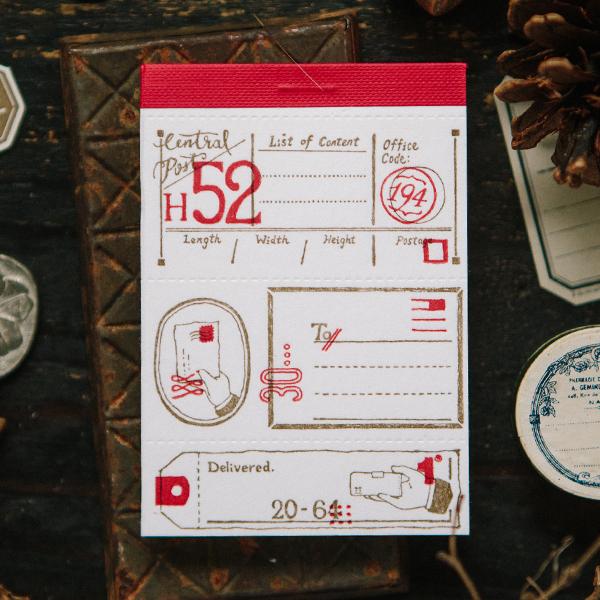 Postal Letterpress Label Book