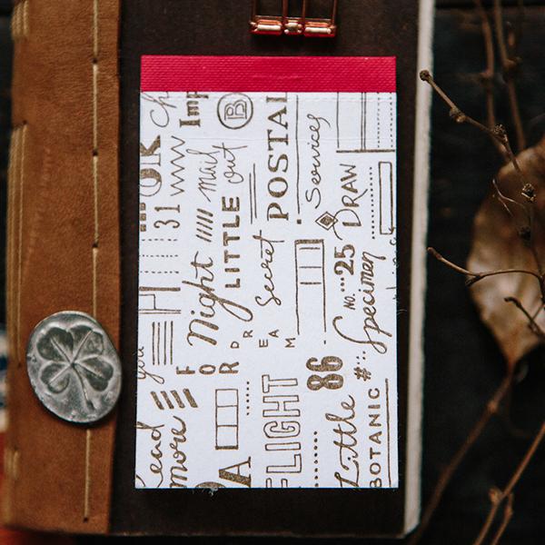 Script Letterpress Label Book
