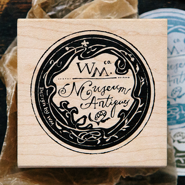 Paper Label Rubber Stamp