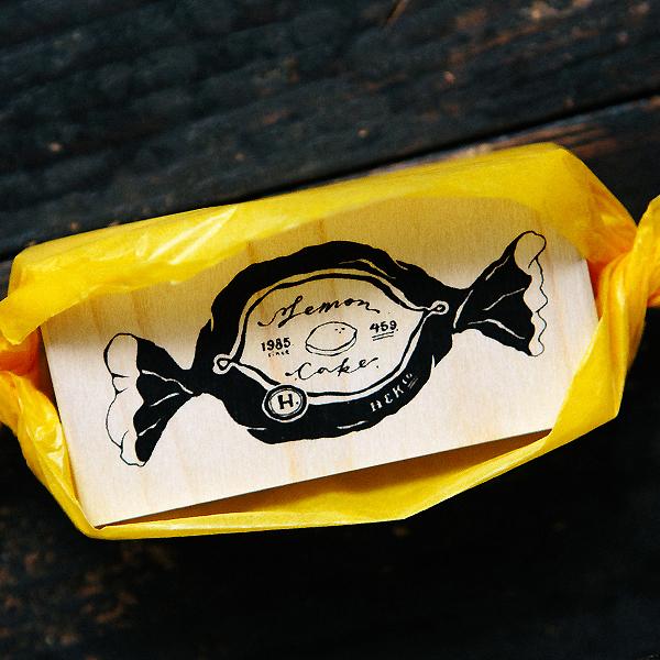 Lemon Cake Rubber Stamp