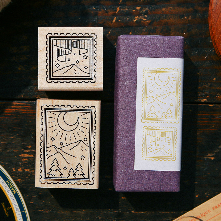 Starry Night  Rubber Stamp Set