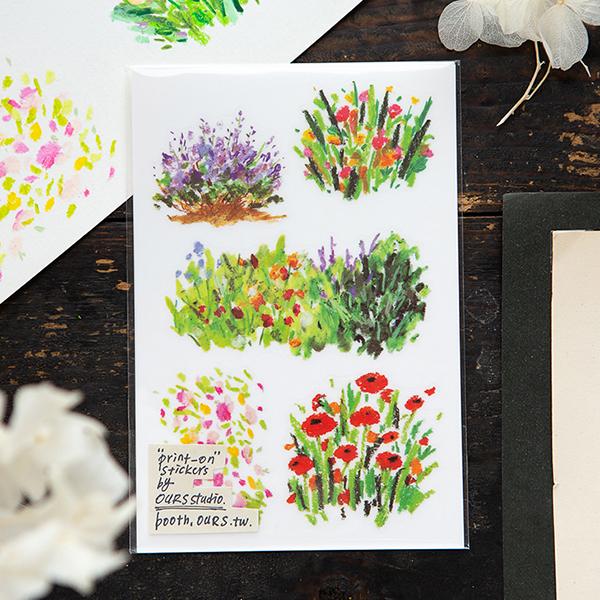 Bright Bloom Transfer Sticker