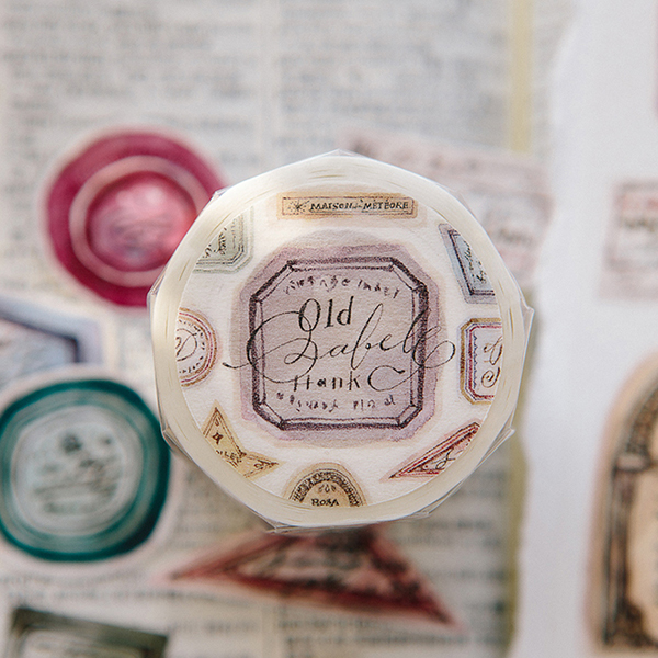 Old Labels Washi Tape