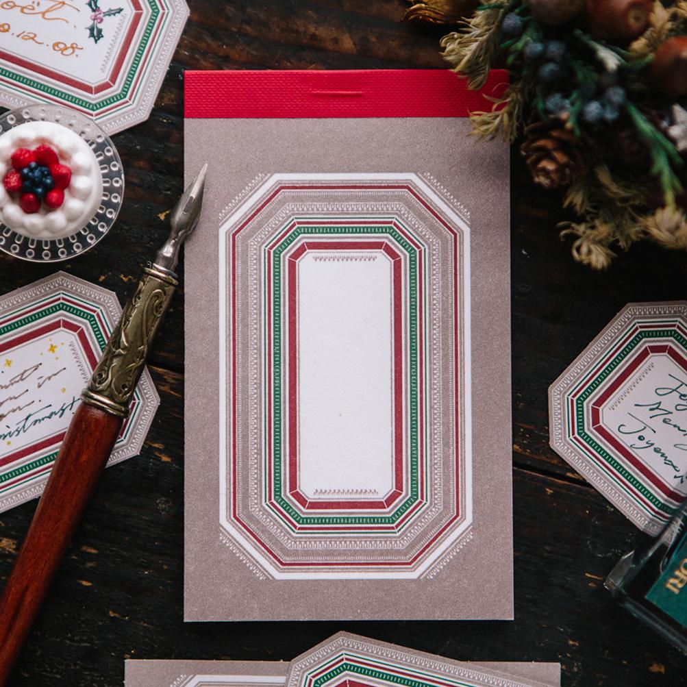 Winter Label Letterpress Book