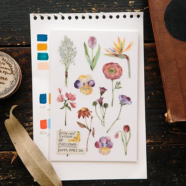 Les Fleurs Transfer Sticker