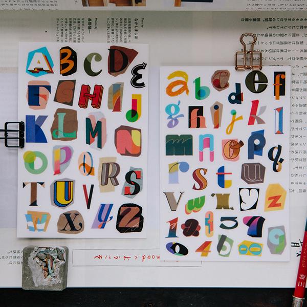 Grooving A-Z Transfer Sticker