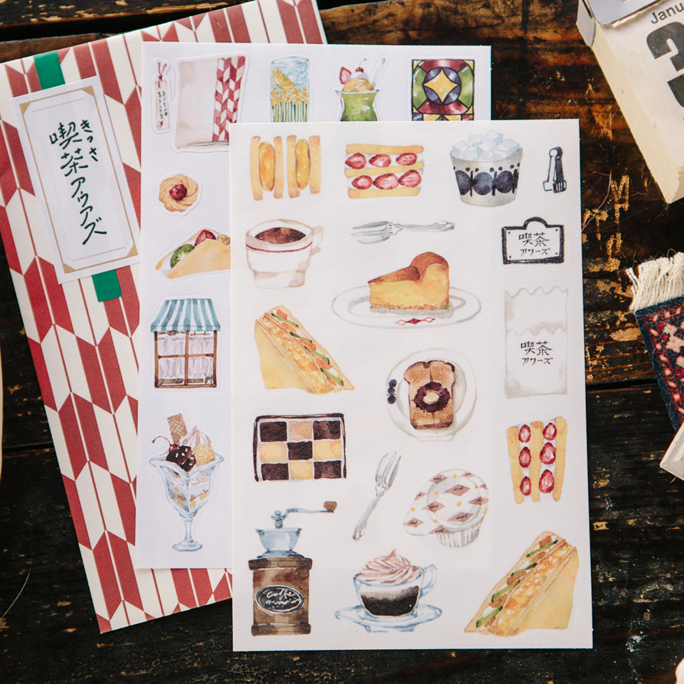Café Ours Sticker Pack